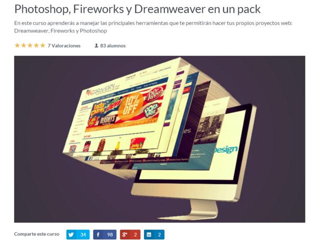 curso online de photoshop y dreamweaver