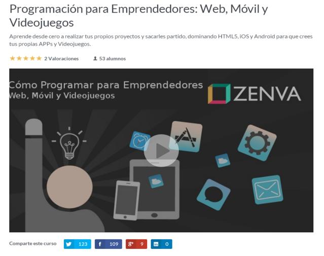 FORMACIÓN emprendedores web moviles videojuegos educativos
