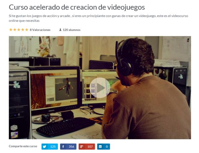 curso online creacion videojuegos