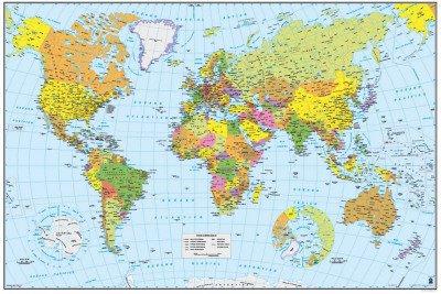 Grupo Erik Editores GPE4016 - Póster Mapa del Mundo, 61 x 91,5 cm