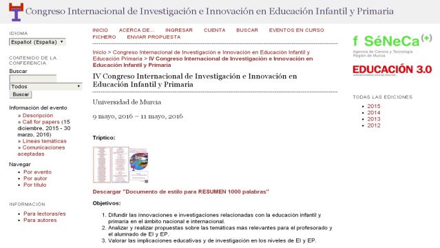 Congreso Internacional de Investigación e Innovación en Educación Infantil y Primaria