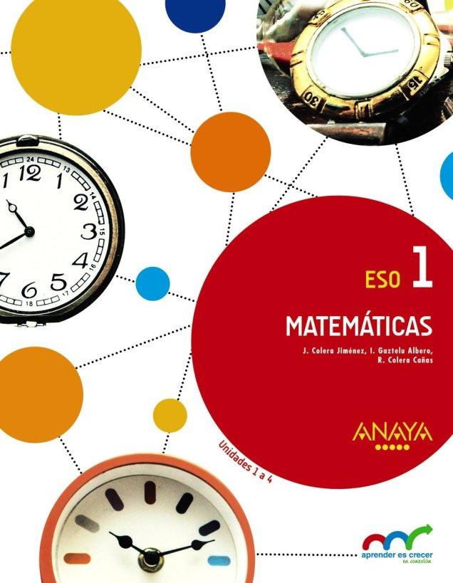 Matem U00e1ticas Aprender Es Crecer En Conexi U00f3n Anaya  Libros 2016